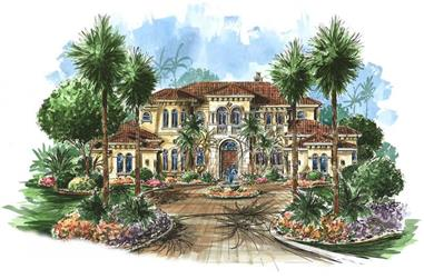 5-Bedroom, 7123 Sq Ft Coastal Home Plan - 175-1066 - Main Exterior