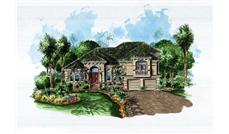 This image shows the Mediterranean style of these house plans.