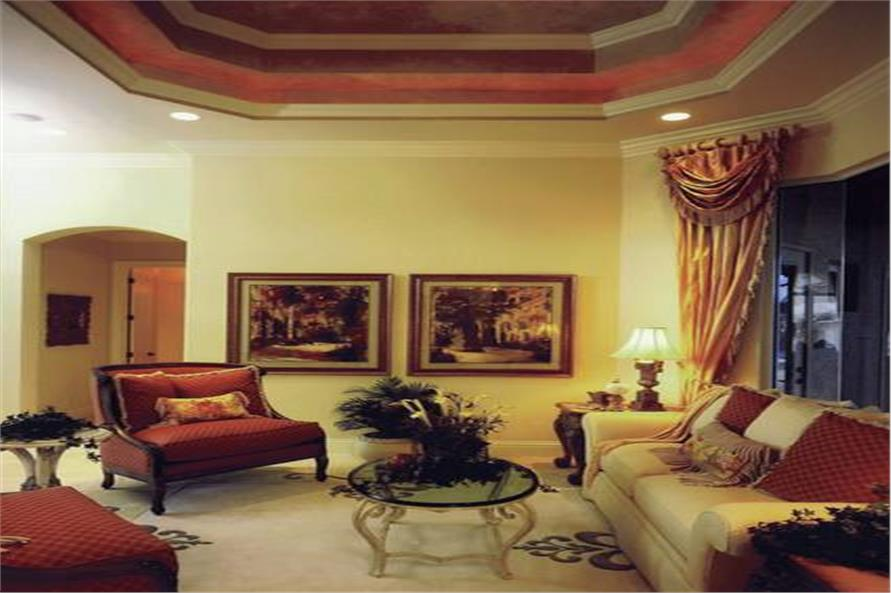 Living Room of this 3-Bedroom,4000 Sq Ft Plan -4000