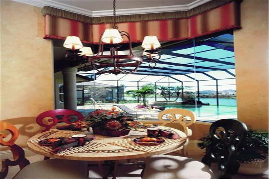 175-1071: Home Interior Photograph-Kitchen: Breakfast Nook