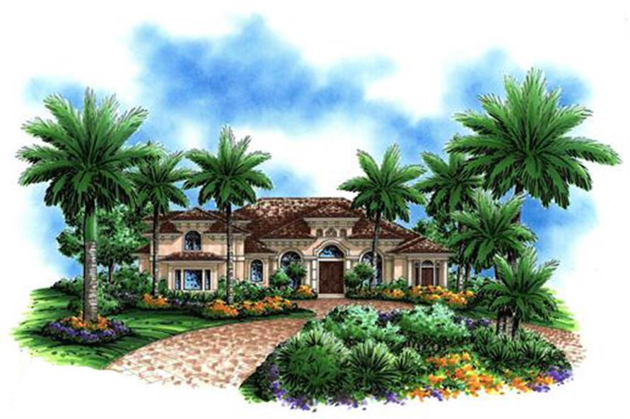 175-1071: Home Plan Rendering-Front Door