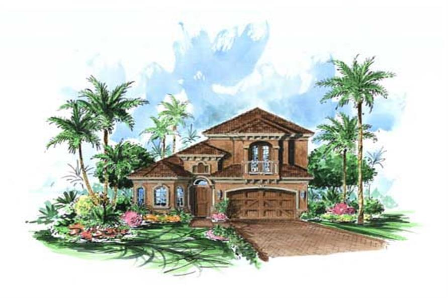 3-Bedroom, 2565 Sq Ft California Style House Plan - 175-1072 - Front Exterior