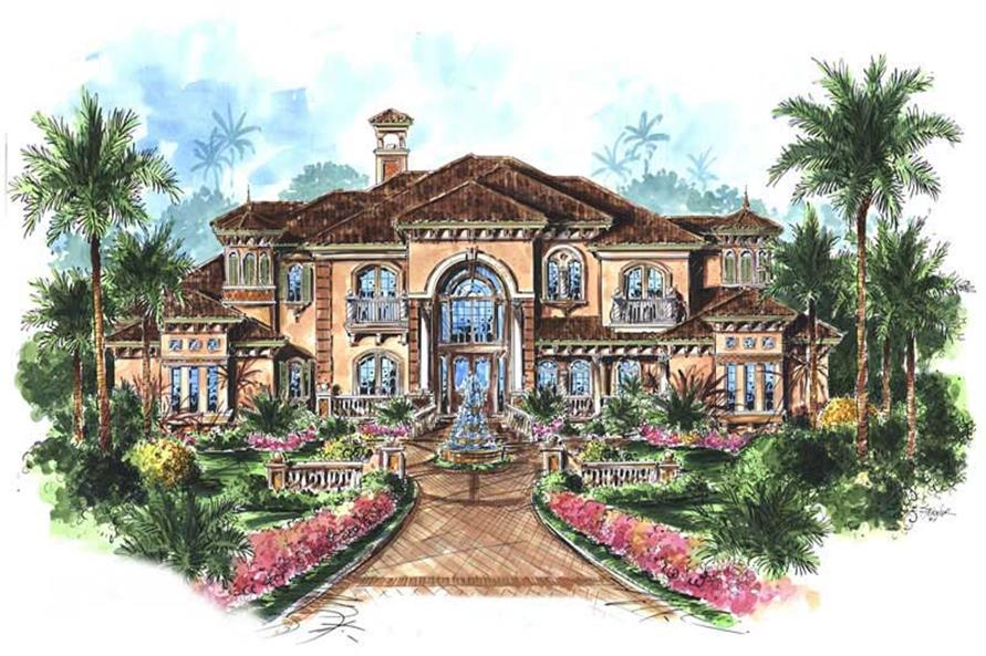 5 Bedrm 6780 Sq Ft Mediterranean House Plan 175 1073