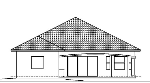 175-1074: Home Plan Rear Elevation