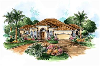 3-Bedroom, 3091 Sq Ft Coastal House Plan - 175-1078 - Front Exterior