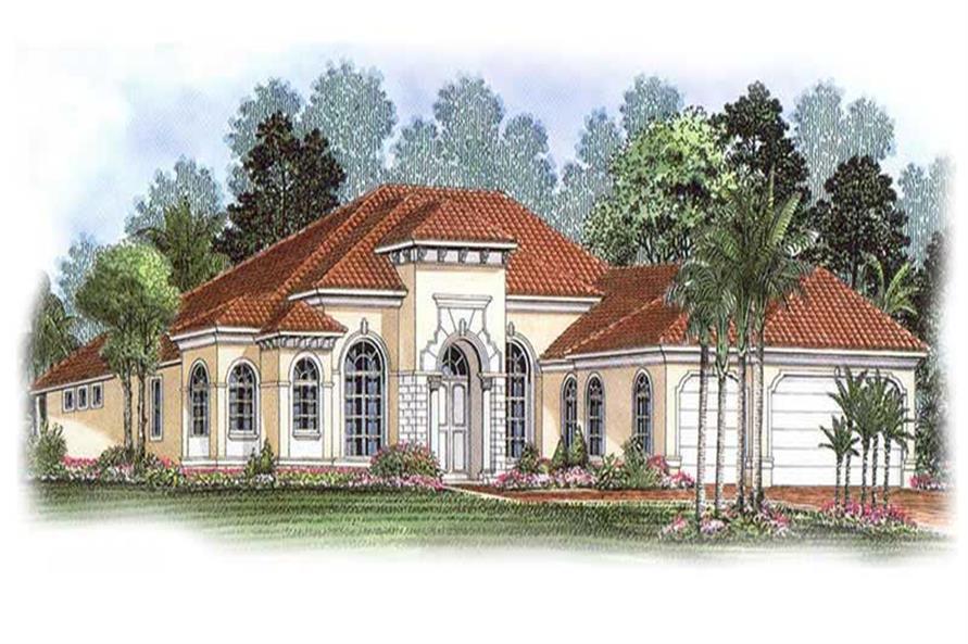 3-Bedroom, 2885 Sq Ft Coastal Home Plan - 175-1079 - Main Exterior