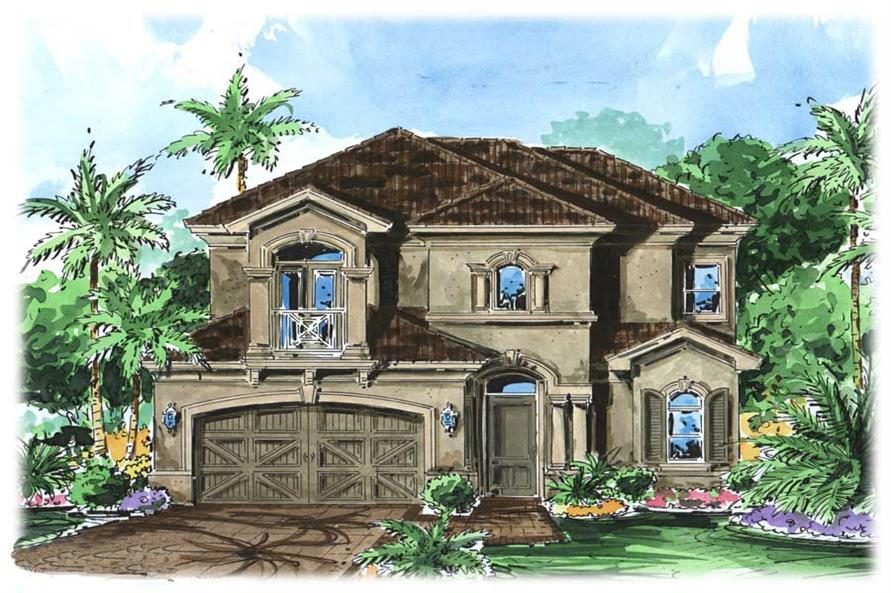 3-Bedroom, 2622 Sq Ft California Style House Plan - 175-1080 - Front Exterior