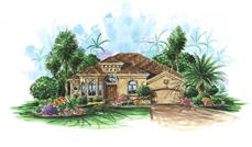 Mediterranean Homeplans color elevation.
