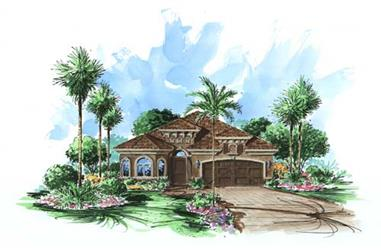 2-Bedroom, 2033 Sq Ft Florida Style House Plan - 175-1082 - Front Exterior