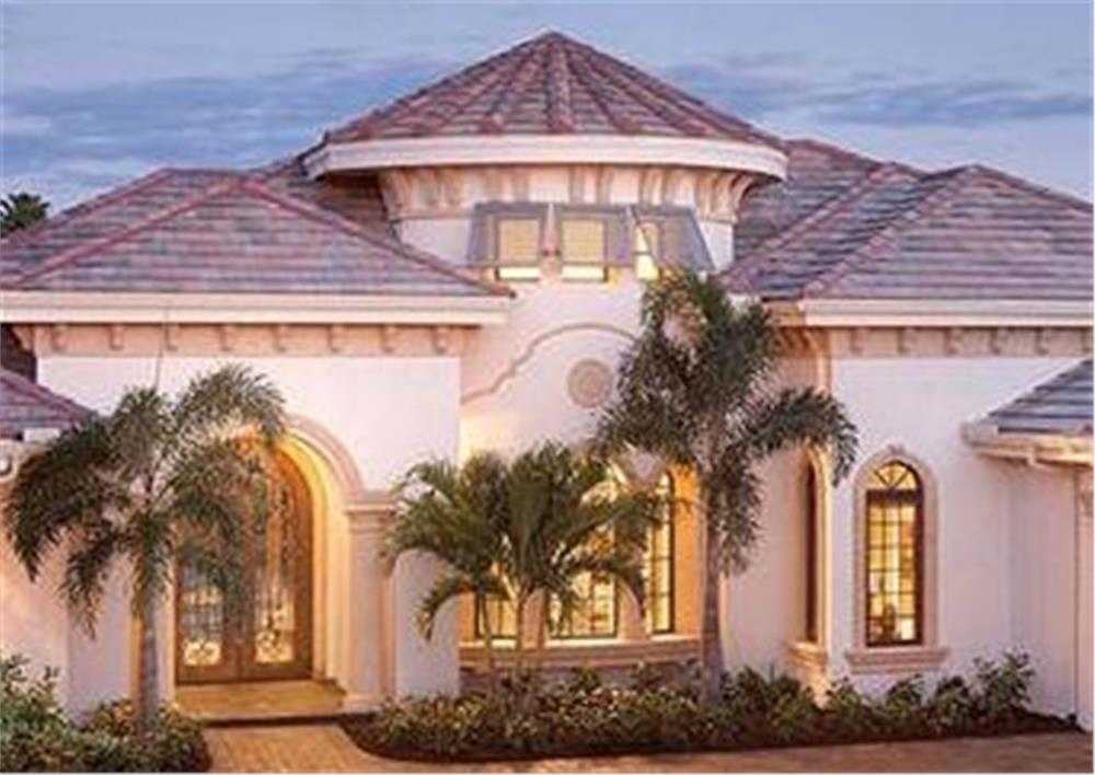 175-1086: Home Plan Rendering-Front Door