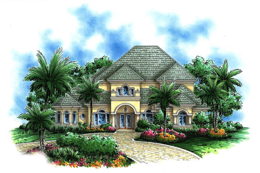 european house plan #175-1091: 5 bedrm, 4397 sq ft home