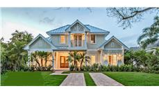 Front elevation of Florida Style home (ThePlanCollection: House Plan #175-1093)