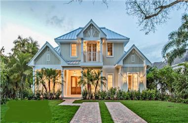 5-Bedroom, 4630 Sq Ft Florida Style House Plan - 175-1093 - Front Exterior