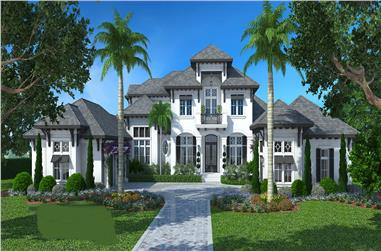 4-Bedroom, 6200 Sq Ft Luxury Home Plan - 175-1094 - Main Exterior