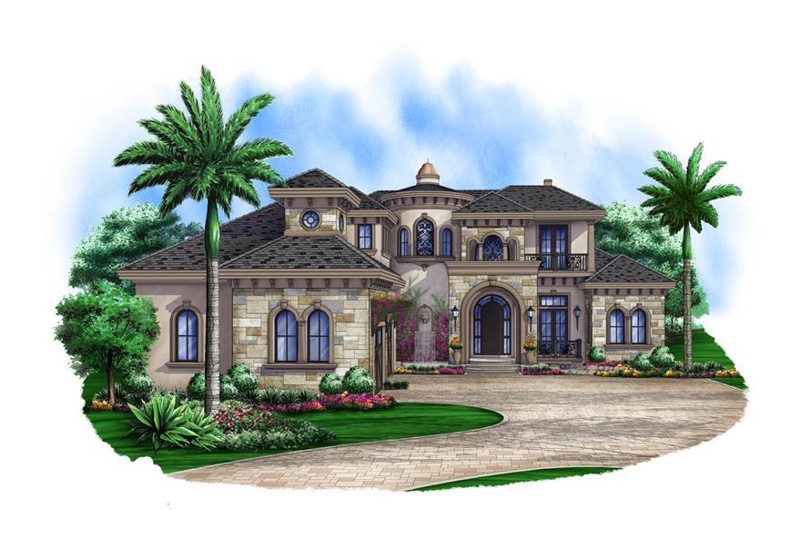 Luxury Home Plan 5 Bedrms 5 5 Baths 6193 Sq Ft 175