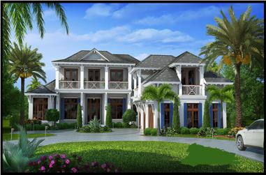 6-Bedroom, 7592 Sq Ft Luxury Home Plan - 175-1098 - Main Exterior