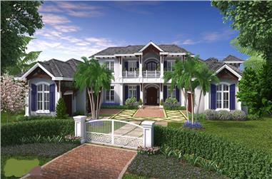 5-Bedroom, 8899 Sq Ft Luxury Home Plan - 175-1099 - Main Exterior