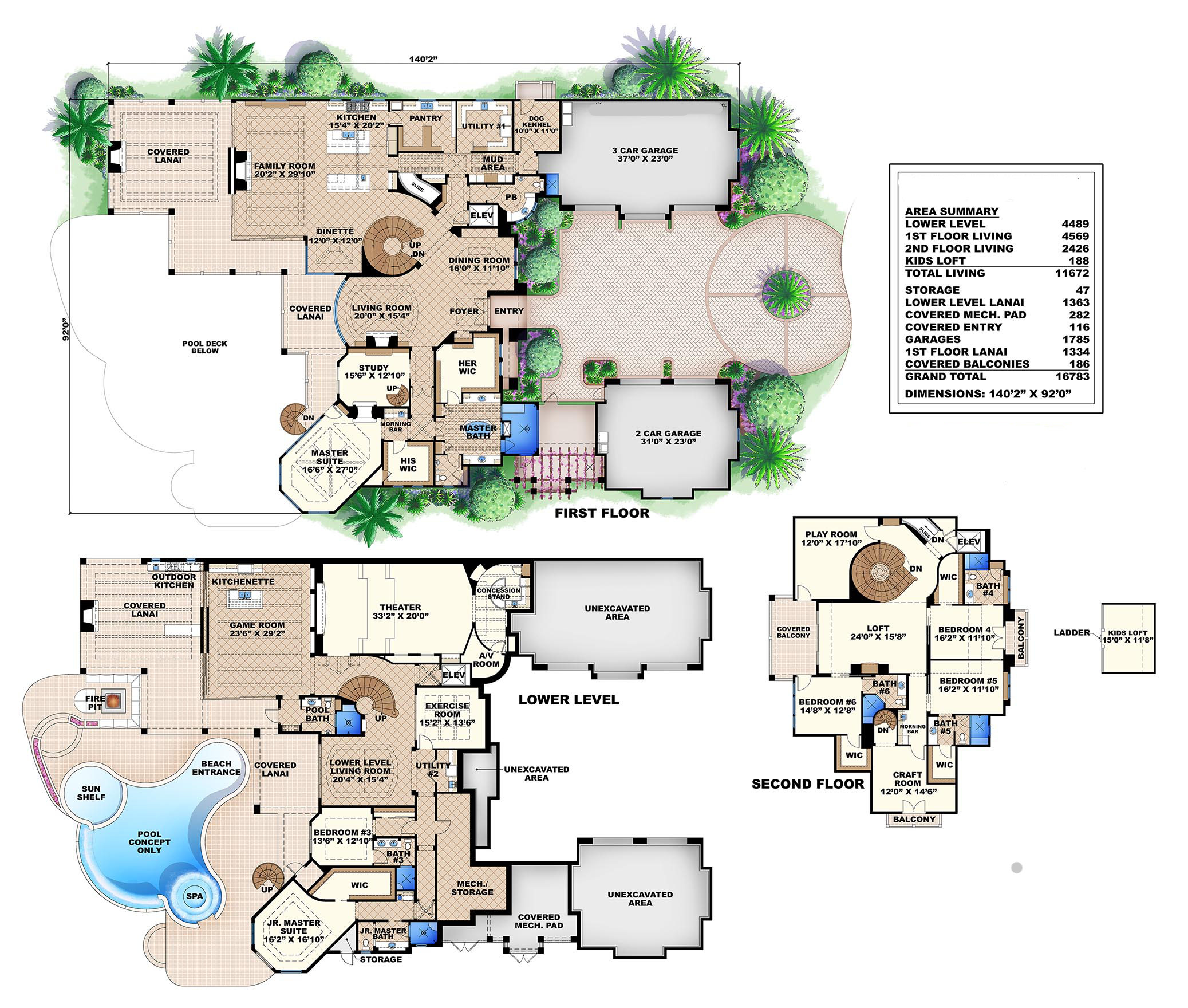 Luxury house plan 175 1100 6 bedrm 11672 sq ft home for Luxury tuscan house plans