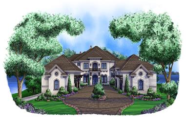 6-Bedroom, 11672 Sq Ft Luxury Home Plan - 175-1100 - Main Exterior