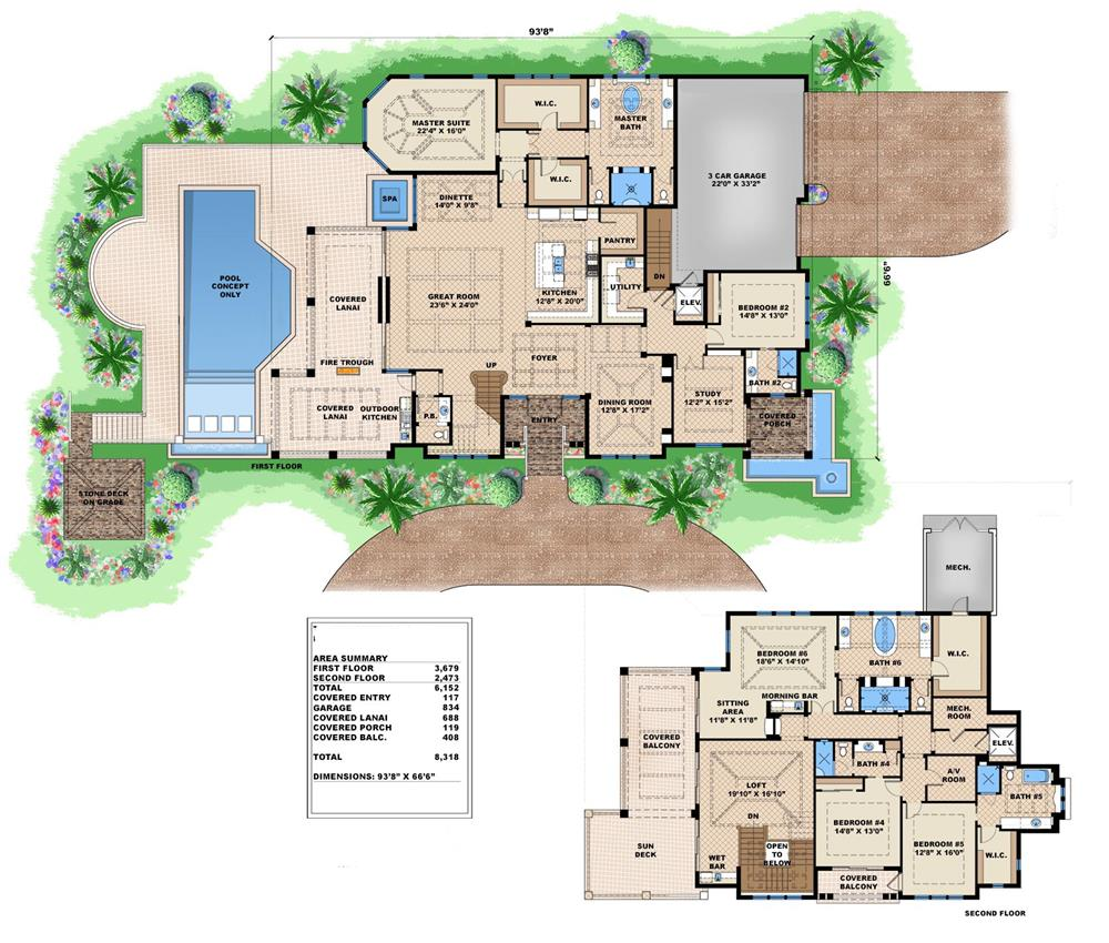 House plans with master bedroom on main level for House plans master on main