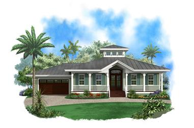 3-Bedroom, 1697 Sq Ft Ranch Home Plan - 175-1108 - Main Exterior
