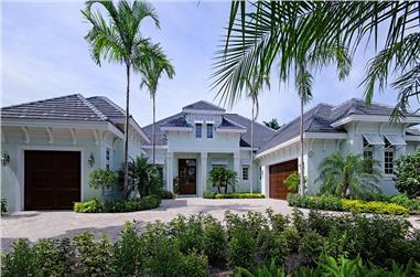 4-Bedroom, 5082 Sq Ft Coastal Home Plan - 175-1110 - Main Exterior