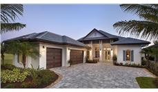 Front elevation of Florida Style home (ThePlanCollection: House Plan #175-1111)