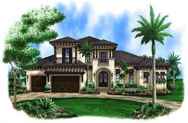4-Bedroom, 3469 Sq Ft Coastal Home Plan - 175-1114 - Main Exterior