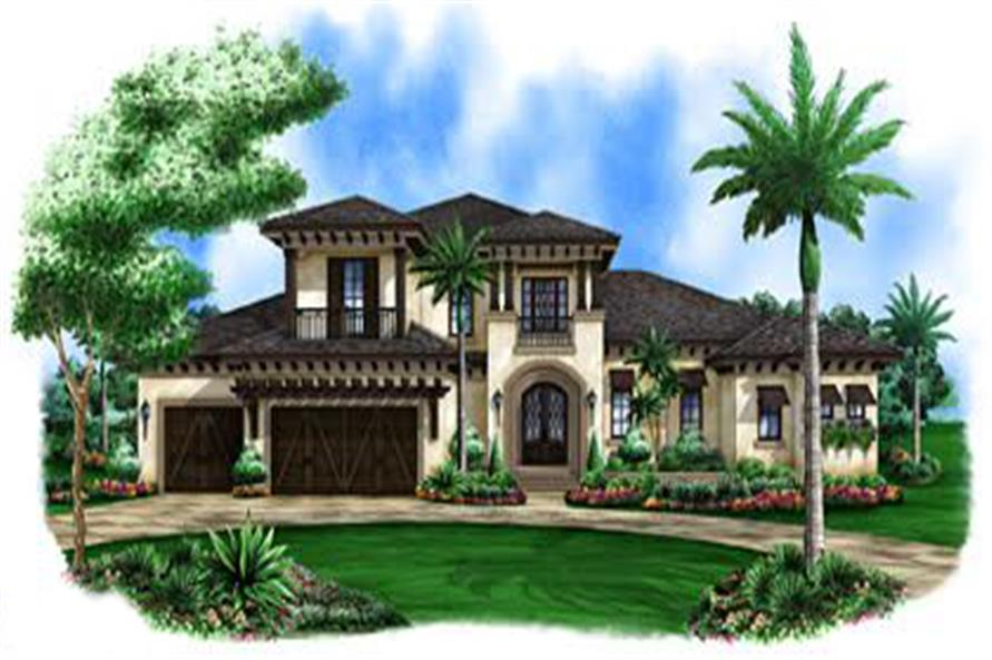 Front elevation of Coastal home (ThePlanCollection: House Plan #175-1113)