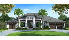 Front elevation of Coastal home (ThePlanCollection: House Plan #175-1116)