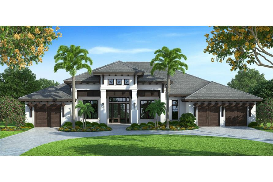 Coastal house plan 4 bedrms 4 5 baths 4599 sq ft for West indian style house plans