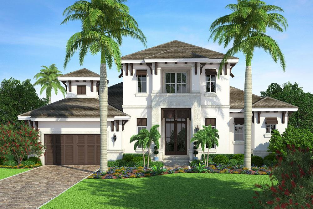 Front elevation of Traditional home (ThePlanCollection: House Plan #175-1117)