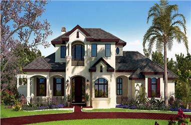 5-Bedroom, 4846 Sq Ft French House Plan - 175-1124 - Front Exterior