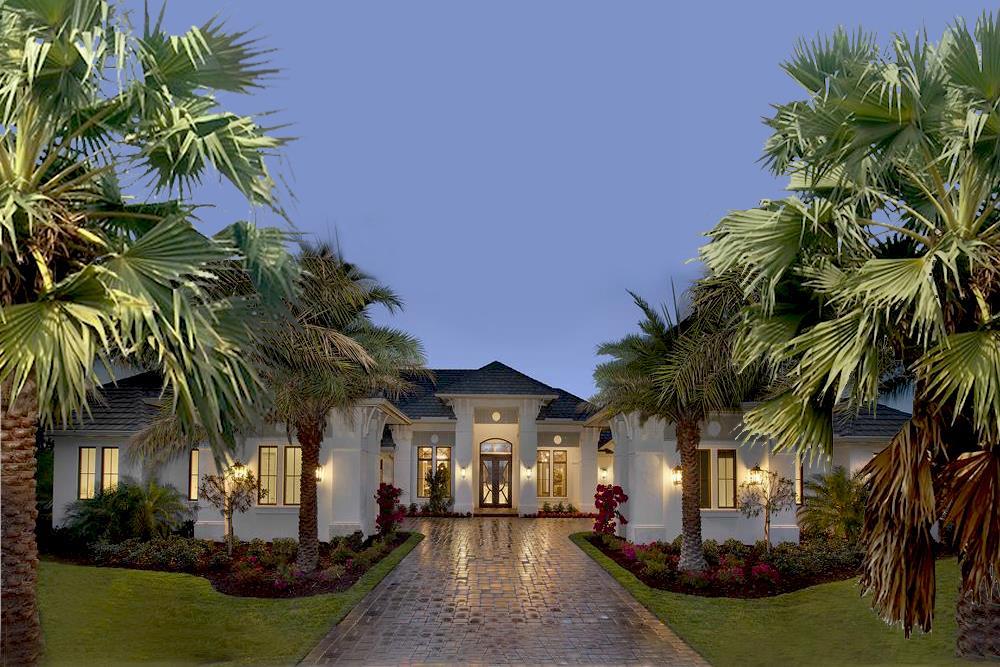Florida Style home (ThePlanCollection: Plan #175-1131)