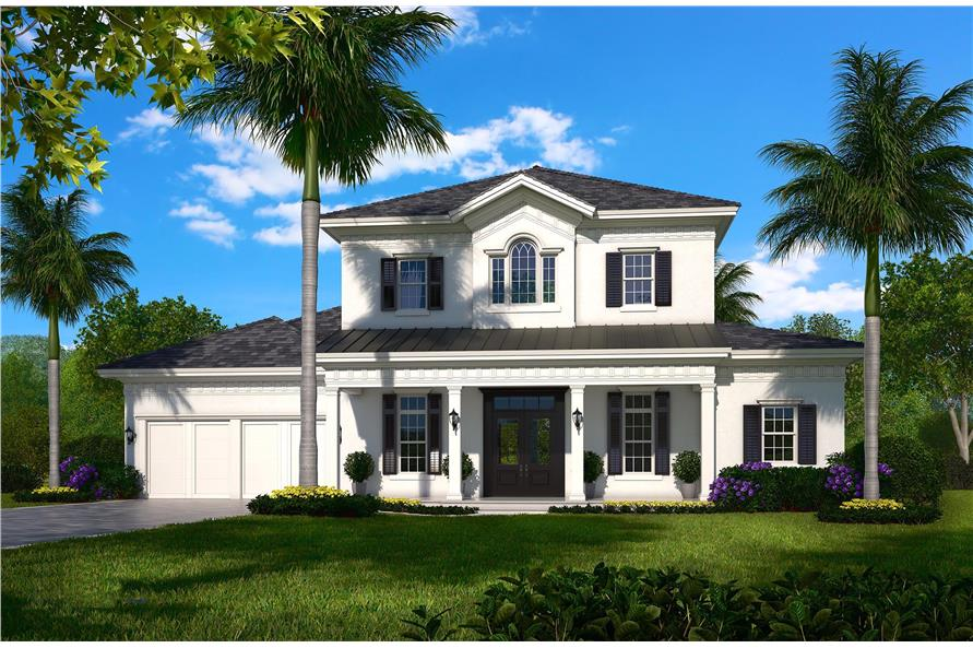 5-Bedroom, 4330 Sq Ft Traditional Home Plan - 175-1135 - Main Exterior