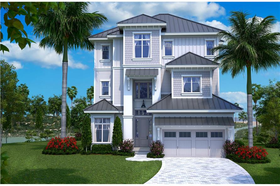 Beachfront house plan 175 1137 5 bedrm 4800 sq ft home for Beachfront home plans