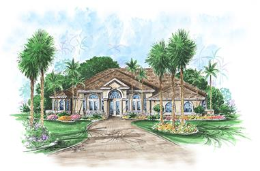 3-Bedroom, 3520 Sq Ft Contemporary Home Plan - 175-1144 - Main Exterior
