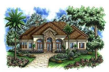 3-Bedroom, 3742 Sq Ft Country House Plan - 175-1146 - Front Exterior