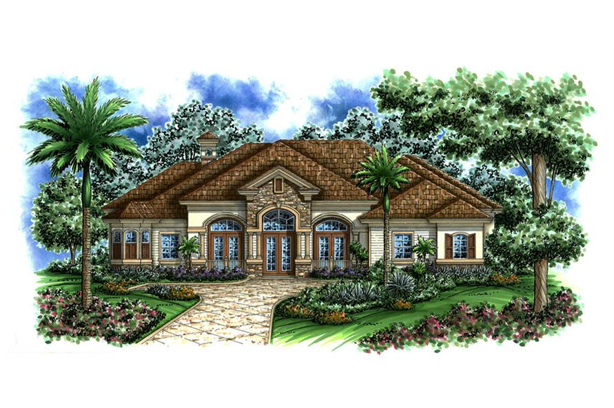 Front elevation of Country home (ThePlanCollection: House Plan #175-1146)