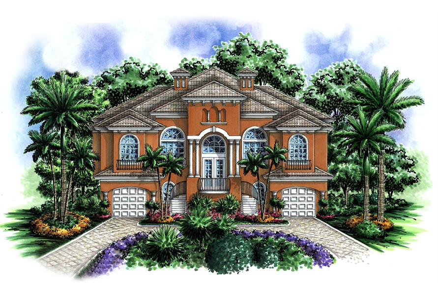 Front elevation of Coastal home (ThePlanCollection: House Plan #175-1153)
