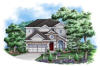 3-Bedroom, 3748 Sq Ft Country Home Plan - 175-1158 - Main Exterior