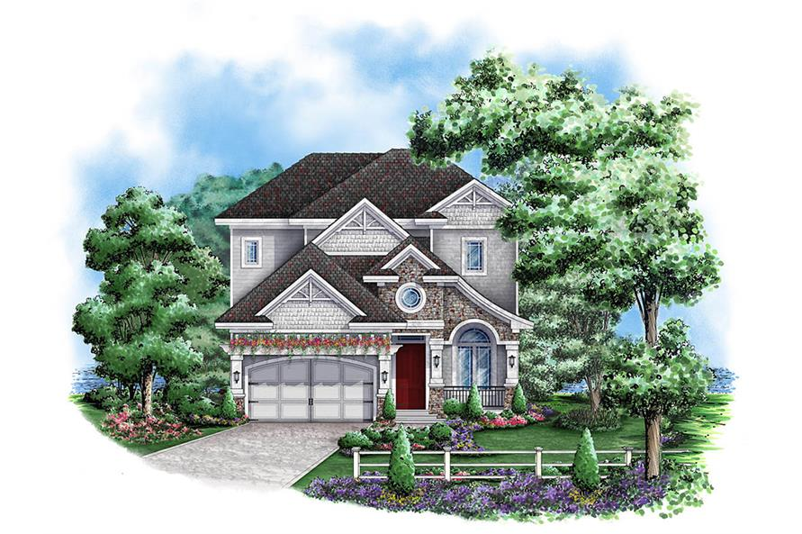 Front elevation of Country home (ThePlanCollection: House Plan #175-1158)