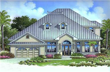2-Bedroom, 3822 Sq Ft Florida Style Home Plan - 175-1159 - Main Exterior