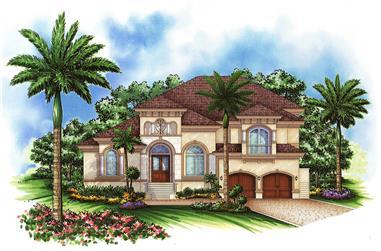 4-Bedroom, 4302 Sq Ft Coastal Home Plan - 175-1165 - Main Exterior