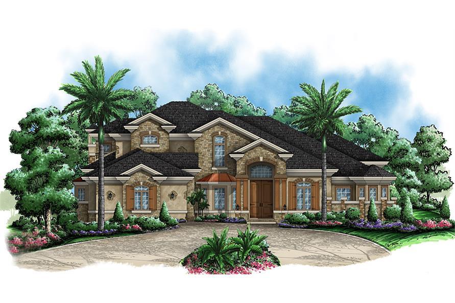 3-Bedroom, 4599 Sq Ft Contemporary Home Plan - 175-1169 - Main Exterior