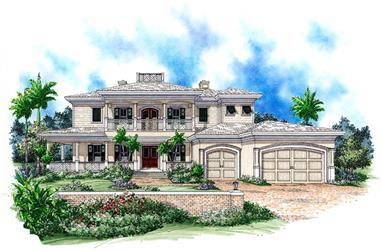 3-Bedroom, 4763 Sq Ft Coastal House Plan - 175-1170 - Front Exterior