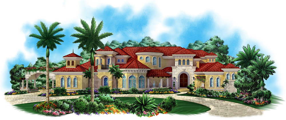 7 bedrm 9202 sq ft mediterranean house plan 175 1186 for Mediterranean house features
