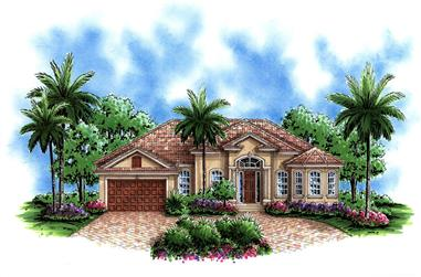 Front elevation of Cottage home (ThePlanCollection: House Plan #175-1198)