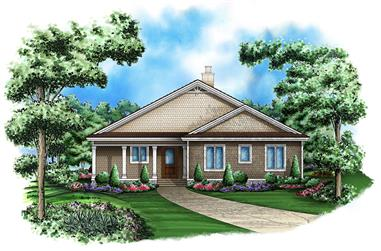 Front elevation of Country home (ThePlanCollection: House Plan #175-1203)