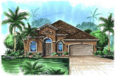 Front elevation of Cottage home (ThePlanCollection: House Plan #175-1207)
